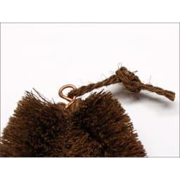 高田耕造商店/紀州野上谷産棕櫚・シュロたわし大 貼箱入 シュロ縄を付けました
