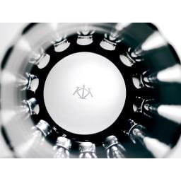 木本硝子/KIKI TAMA-ICHIMATSU(玉市松) オールド|黒の江戸切子グラス グラスの底面にはブランドロゴの刻印入り