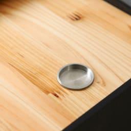 橋本達之助工芸/紀州檜天然木リビングダストボックス容量45L(2分別対応可能)|ゴミ箱 取っ手には指1本でスムーズに開閉できるようステンレスキャップを採用