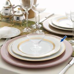 Noritake(ノリタケ)/ハンプシャーゴールド 23cmアクセントプレート(お皿)ペアセット(2枚組)|洋食器