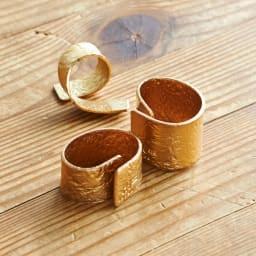 NAGAE+(ナガエプリュス)/TIN BREATH Ring ティンブレスリング ゴールド色 折り曲げ時