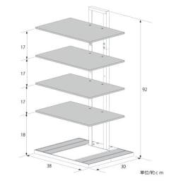 FRAMES&SONS(フレームズアンドサンズ)/(5段)Square(スクウェア)ブティックタワー 5段