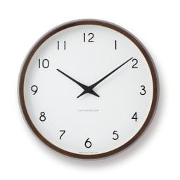 Lemnos(レムノス)Campagne(カンパーニュ) ウォールクロック壁掛け電波時計 (イ)ブラウン