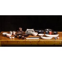 ARITA PORCELAIN LAB(アリタ・ポーセリン・ラボ)/盛鉢 sabi/錆(錆千段)|有田焼 さまざまなアイテムも同じ窯元の製作なので、別のシリーズと組み合わせてのコーディネイトもおすすめです