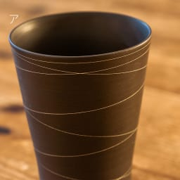 ARITA PORCELAIN LAB(アリタ・ポーセリン・ラボ)/泡立ちフリーカップ(タンブラー)sabi/錆|有田焼 ア:錆線紋