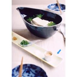 ARITA PORCELAIN LAB(アリタ・ポーセリン・ラボ)/長角皿 hakuji/白磁|有田焼 盛り付けイメージ