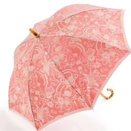 創業1866年槙田商店/ジャカード織 長傘(雨傘) kirie(キリエ)更紗 ア:レッド