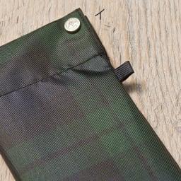 創業1866年槙田商店/トラッドミニ折りたたみ傘 (イ)グリーン 傘袋