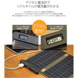 (15W)ソーラー充電器 ソーラーペーパー デジタル電流計でリアルタイムの電流量が分かる
