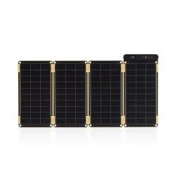 (15W)ソーラー充電器 ソーラーペーパー 10W…マグネットを使って簡単にパネルの追加や取り外し