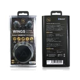 完全ワイヤレスイヤホン Wings (ア)ブラック/パッケージ