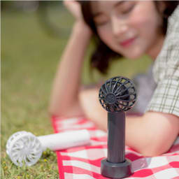BLUEFEEL(ブルーフィール)/超小型ヘッド ポータブル扇風機 (イ)スノーホワイト、(ア)スペースグレー
