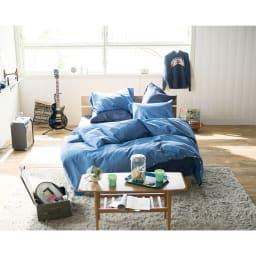 Fab the Home(ファブザホーム)/ライトデニム 枕カバー