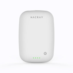HACRAY(ハクライ)/ワイヤレス充電器+モバイルバッテリー Cable-Free Mobile Battery (ウ)ホワイト