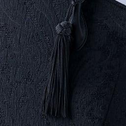米沢織ペイズリージャガードフォーマルバッグ 取り外し可能のタッセル付き