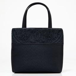 米沢織切替コード刺繍アクセントバッグ front