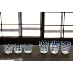 廣田硝子(ヒロタガラス)/大正浪漫 グラス 玉十草