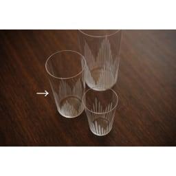 廣田硝子(ヒロタガラス)/東京復刻ガラス BRUNCH 千本 5オンスタンブラー 左のサイズが5オンスです