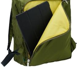 BusyBeaver(ビジィ・ビーバー)/マルチフラップ バッグパック 背面ポケットには、10インチ前後のPC・タブレットも収納可能です