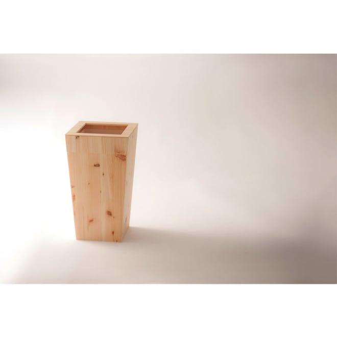 橋本達之助工芸/紀州檜天然木 ダストボックス Lサイズ(樹脂製ボックス付き)|ゴミ箱