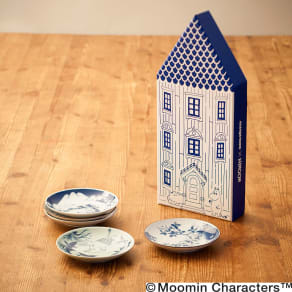 amabro(アマブロ)/MOOMIN×amabro SOMETSUKE 有田焼丸皿5枚セット 専用BOX付き 写真