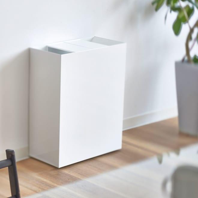 FRAMES&SONS(フレームズアンドサンズ)/SLANT ダストボックス45L(2分別対応可) お部屋のインテリアに馴染むスマートなダストボックス