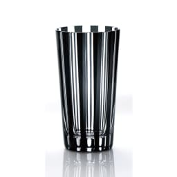木本硝子/KIKI STRIPE(柾目) タンブラー|黒の江戸切子グラス