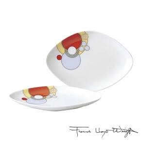 Noritake(ノリタケ)/フランク・ロイド・ライト デザイン 20cm菱形プレート(お皿)ペアセット(2枚組)|洋食器 写真