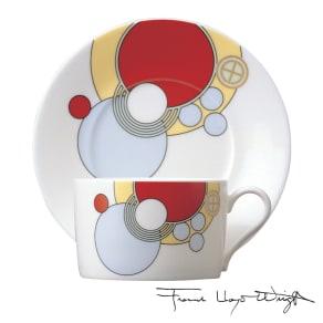 Noritake(ノリタケ)/フランク・ロイド・ライト デザイン ティー・コーヒーカップ&ソーサー 碗皿(1客)|洋食器 写真