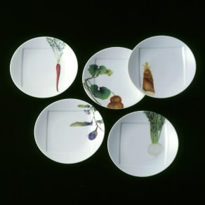 Noritake(ノリタケ)/京香旬彩 15.5cmプレート(お皿)5枚セット(絵変り)|洋食器 写真