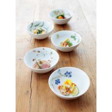 Noritake(ノリタケ)/あづまの路 14cmボウル 5個セット(絵変り)|洋食器