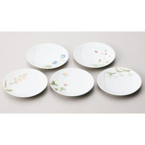 Noritake(ノリタケ)/あづまの路 15.5cmプレート 5枚セット(お皿・絵変り)|洋食器 写真