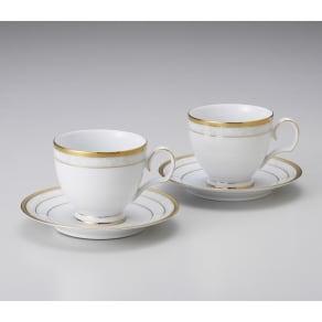 Noritake(ノリタケ)/ハンプシャーゴールド ティー・コーヒーカップ&ソーサー ペアセット (2客組)|洋食器 写真