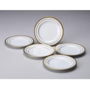 Noritake(ノリタケ)/ハンプシャーゴールド 16cmプレート(お皿)5枚セット|洋食器 写真