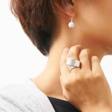 NAGAE+(ナガエプリュス)/TIN BREATH Ring ティンブレスリング シルバー色 写真