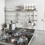 FRAMES&SONS(フレームズアンドサンズ)/18-8ステンレス キッチンツールハンガー(幅75用) 写真