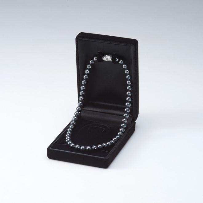 8mmブラック貝パール フォーマルネックレス