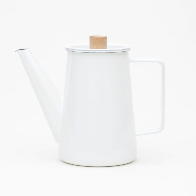 小泉誠・kaico(カイコ)/ホーロー(琺瑯)コーヒーポット ホーローと天然木の組み合わせは相性◎