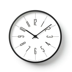 Lemnos(レムノス)時計台の時計 ウォールクロック壁掛け電波時計 写真