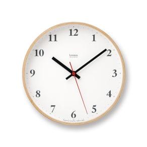 Lemnos(レムノス)Plywood clock ウォールクロック壁掛け電波時計 写真