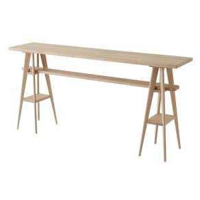 国産タモ天然木オーダーカウンタテーブル 幅210cm 写真