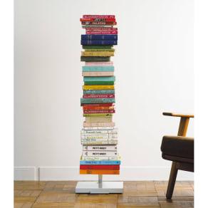 FRAMES&SONS(フレームズアンドサンズ)/キャスター付きブックタワー(高さ111.5cm)|本棚 ブックシェルフ 写真