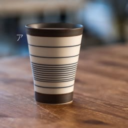 ARITA PORCELAIN LAB(アリタ・ポーセリン・ラボ)/フリーカップ 呉須錆線紋|有田焼 ア:青