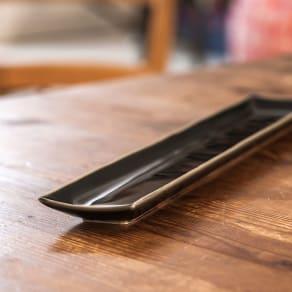 ARITA PORCELAIN LAB(アリタ・ポーセリン・ラボ)/長角皿 sumi/墨ルリ|有田焼 写真