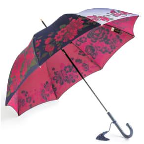 創業1866年槙田商店/ジャカード織 晴雨兼用長傘(UVカット加工) 絵おり 大薔薇 写真