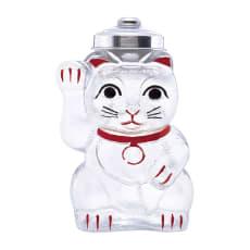 廣田硝子(ヒロタガラス)/招き猫 菓子びん