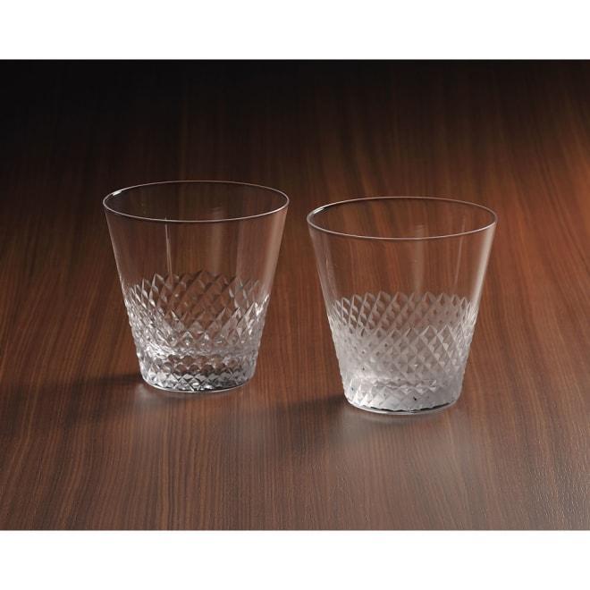 廣田硝子(ヒロタガラス)/江戸硝子 綾 10オンスオールド クリア こちらは左の商品になります