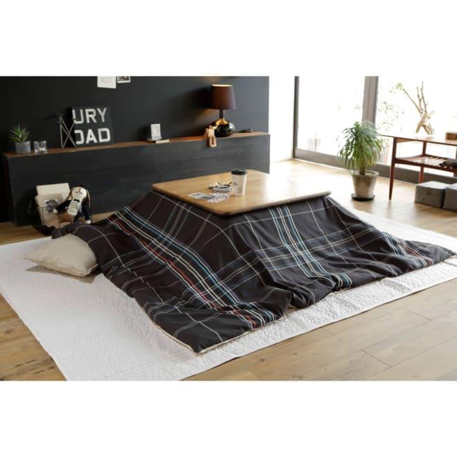 Fab the Home(ファブザホーム)/ノクティス こたつ布団カバー チャコール※こちらは正方形のサイズの写真になります