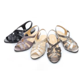 神戸シューズ 時見の靴/スプーンクロスサンダル エアーヒール 写真