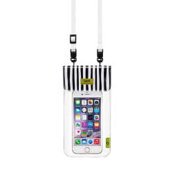 スマートフォン用防水ポーチ bikit2 (エ)ゼブラ